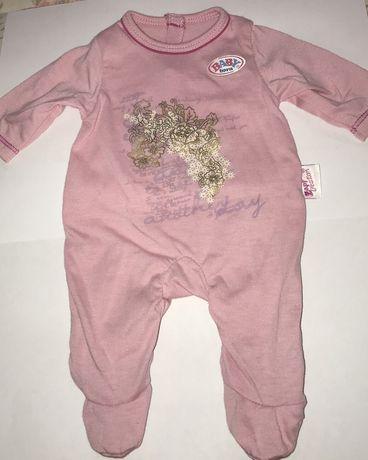 Пижамка розовая для куклы BabyBorn