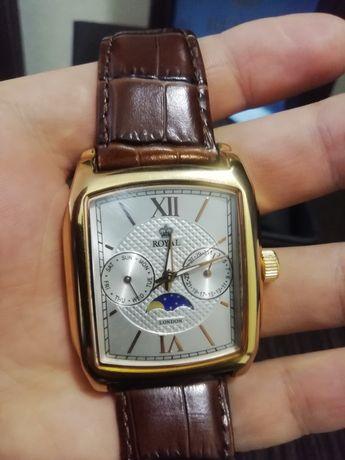 Часы мужские Royal Rondon японский механизм, кожаный ремешок