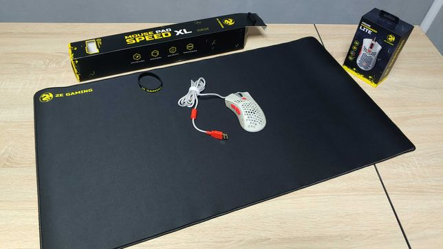Мышь 2Е HyperSpeed Lite (PixArt 3325) + Коврик 2E PG320 XL (800x450х3)