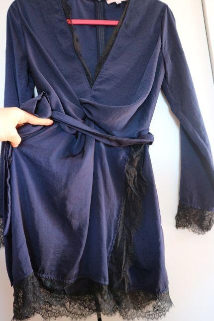 Wieczorowa sukienka Missguided s.m koronka satyna