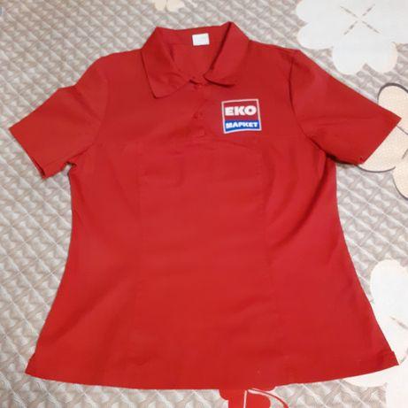 Котоновая футболка для работающих  магазина ЕКО Маркет р.44-46