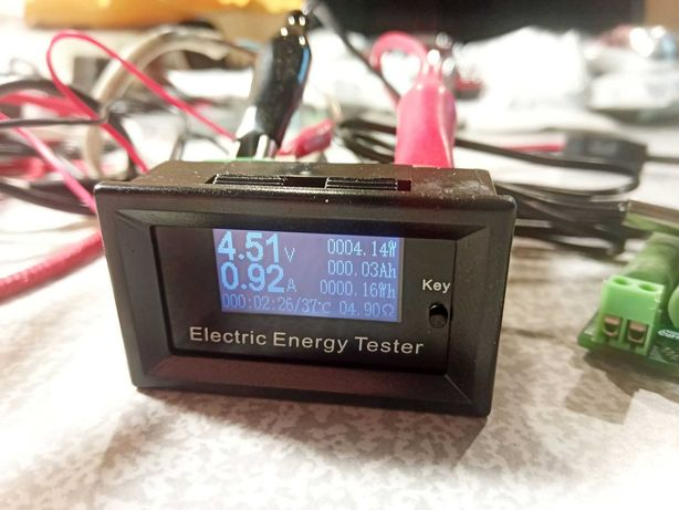 Ваттметр DC 0-150В 0-20А 3кВт постоянного тока термодатчик панель