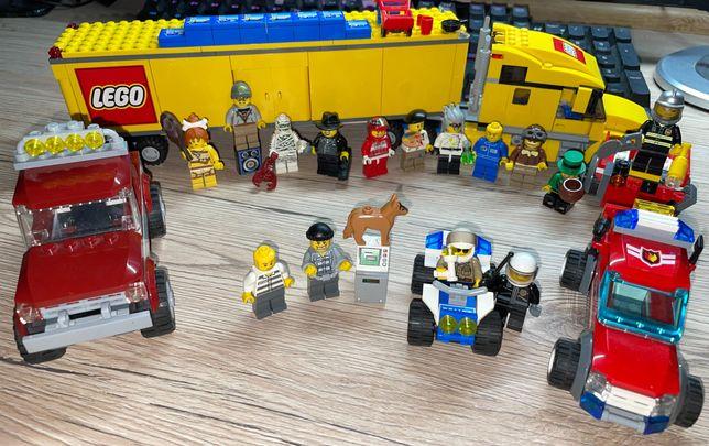 LEGO Tir/Straż/Terenówka/quadPolice/Ludziki
