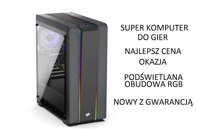 NOWY Super komputer DO GIER - i5-9400/16 GB RAM/SSD 1 TB/GTX 1650