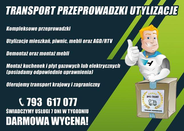Transport Przeprowadzki Utylizacja Piwnic Mieszkań Wywóz Starych Mebli
