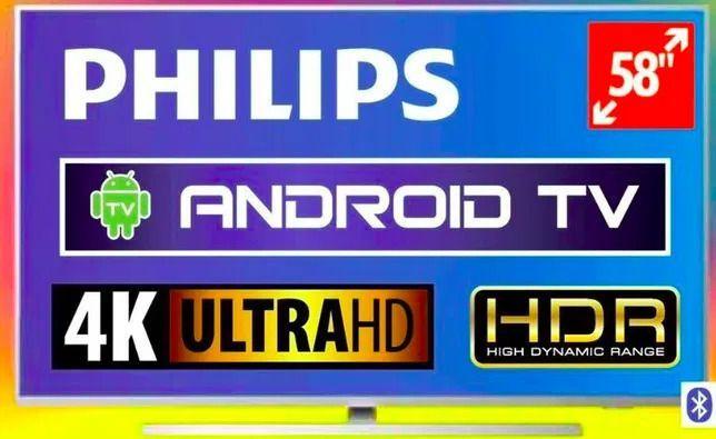 Telewizor Philips LED 4K UHD Android 58PUS7304 YouTube Netflix