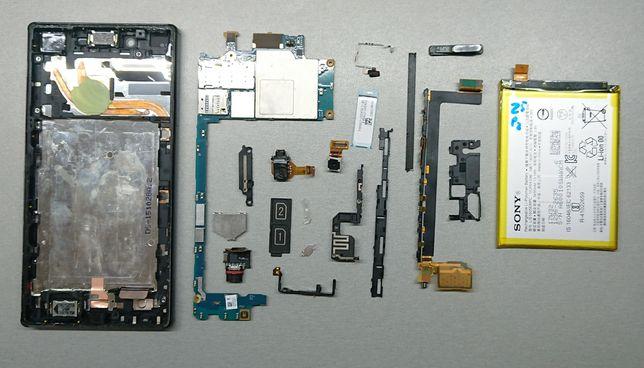 Sony Xperia Z5 Premium E6883 E6853.Разборка. Шлейф, кнопка, разъем USB