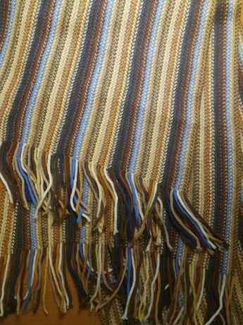 Вязаный теплый шарф унисекс женский, мужской