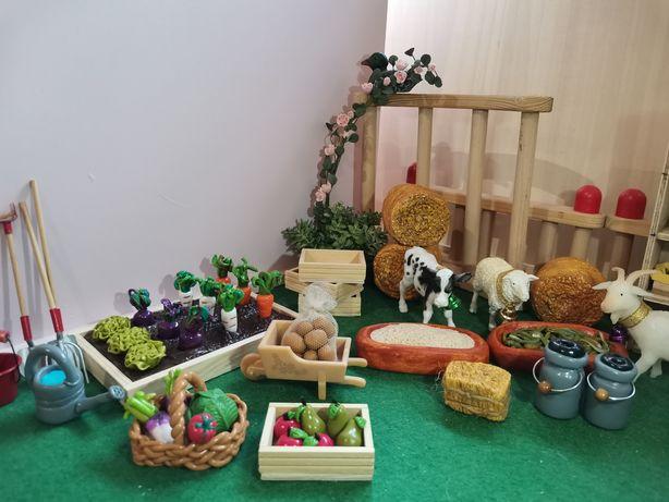 Zwierzęta, makieta, Schleich, Collecta, konieczny , farma