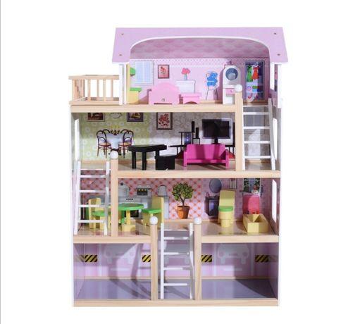 Domek Dla Lalek Zabawka Dla Dziewczynki 4 Piętra Drewniany