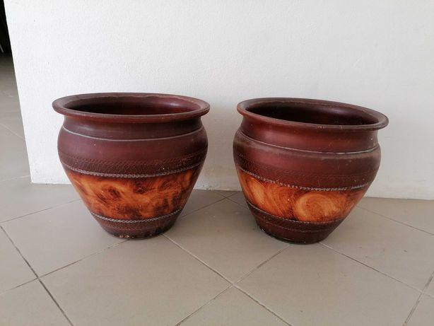 2 vasos de jardim