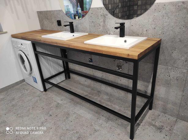 Szafka łazienkowa loft. Profil 3x3. Blat dąb