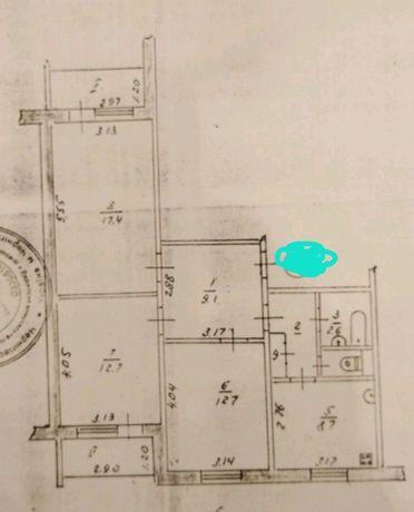 Продам трёхкомнатную квартиру в центре города