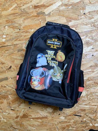 Plecak szkolny na kółkach Angry Birds