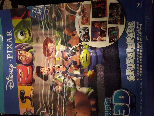 Puzzle 3d disnay pixar 6 pack