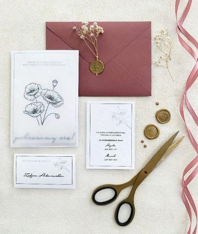 Dwuczęściowe zaproszenia ślubne/ zaproszenia na ślub / Promocja