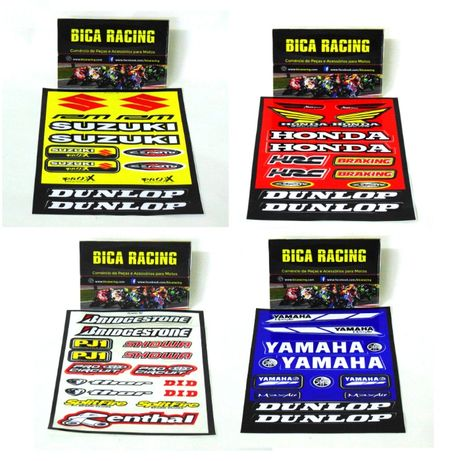 Kit de autocolantes Suzuki , Honda , Yamaha e diversos