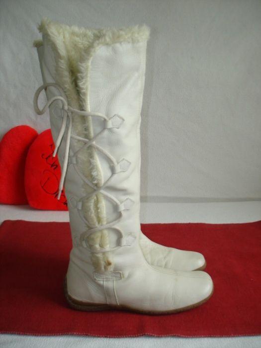 Шикарные кожаные утепленные сапоги на меху бренд roots Ивано-Франковск - изображение 1
