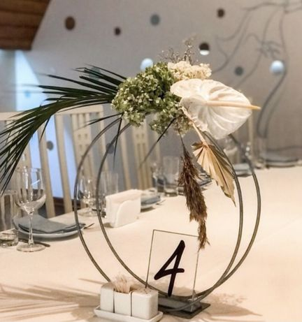 Кругла підставка круглая подставка свадьба весілля флористика квіти