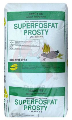 SUPERFOSFAT PROSTY GRANULOWANY 50kg nawóz uniwersalny pod rośliny upra