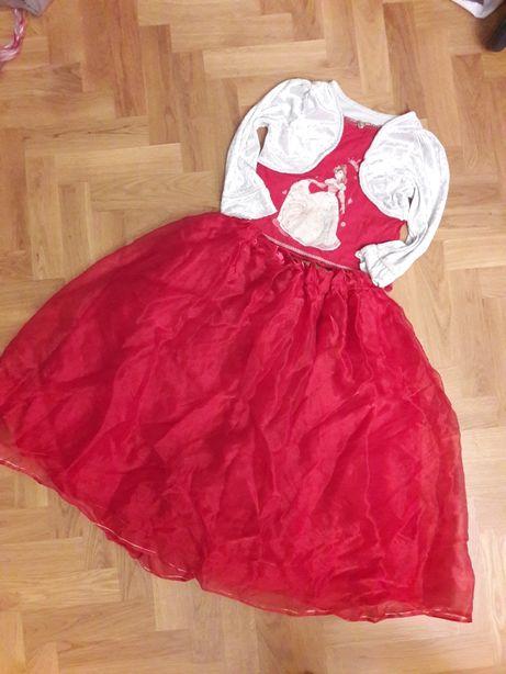 Sukienka bal księżniczka strój Bella Ladybird 104 przebranie princess