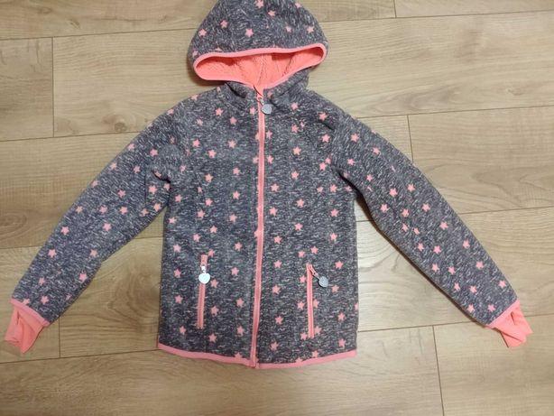 Nowa Smyk kurtka wiosenna polar na misiu bluza dla dziewczynki 134