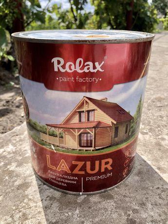 Лазур алкідна для деревини Rolax. ЗАЛИШОК