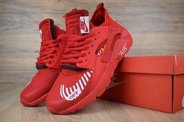 Кроссовки Nike Air Huarache x OFF White, красные