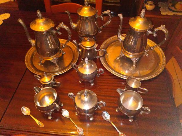 Serviço de café e chá (12 Peças) +3colheres em Prata Portuguesa