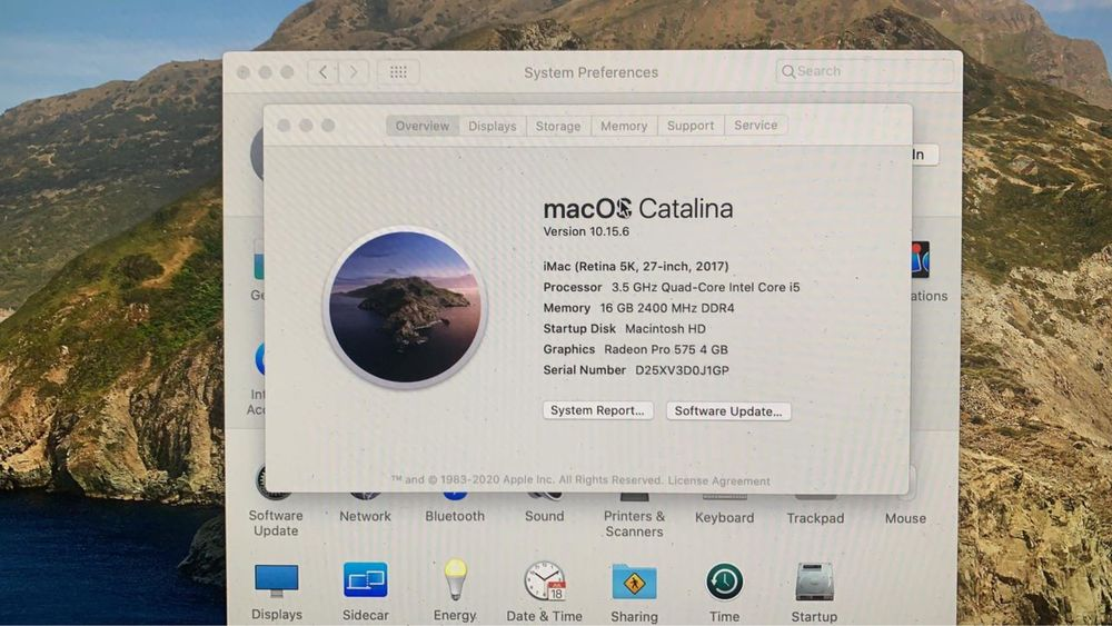 2017 iMac 27 5k, core i5, 8 и 16 озу, Rx575 4gb (компьютер игровой)