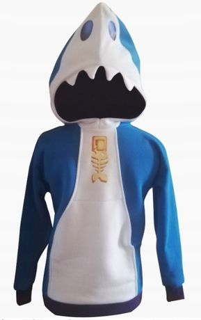 В наличии Толстовка кофта Brawl Stars Leon SkinShark, акула. ПодЗаказ!