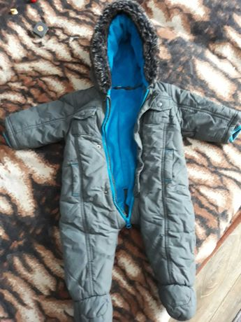 Kombinezon zimowy wraz z czapka, kominem i rękawiczkami