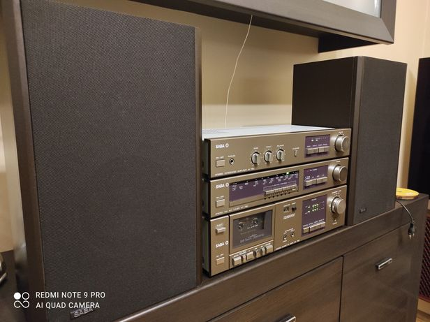 Wieża stereo Saba MI780 MT780 CD780 kolumny B1800 vintage