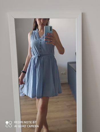 Нежно голубое  Платье/сарафан/хлопок
