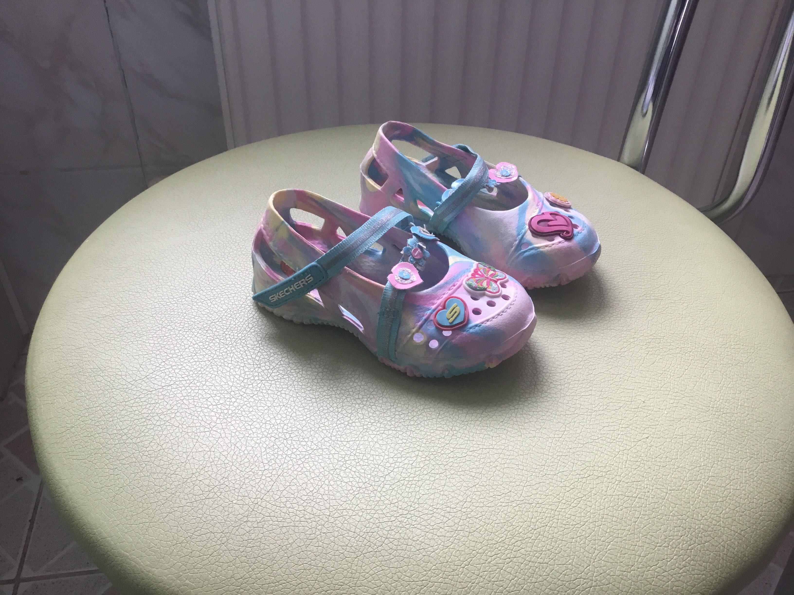 Сандали-кроксы для девочки Skechers