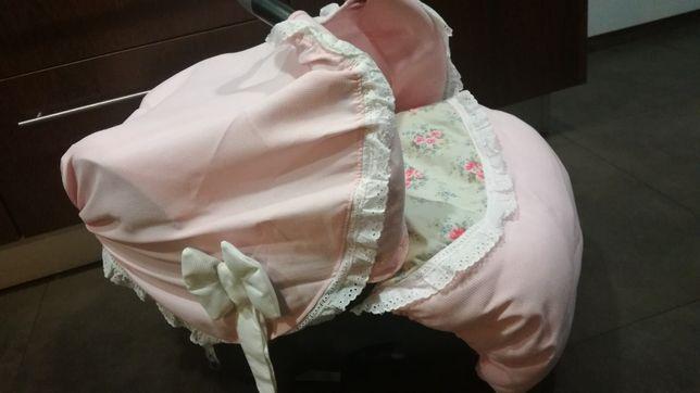 Babycoque bebéconfort com capa/forra de menina