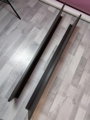 Sprzedam półki w kolorze ciemnego brązu (WENGE?) długość 123 cm