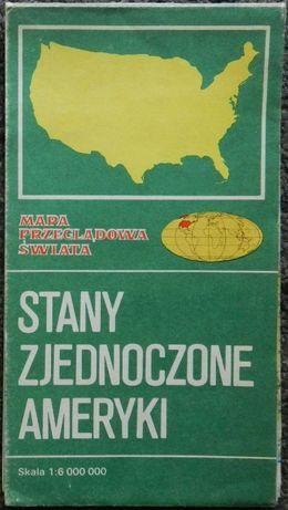 Mapa Stany Zjednoczone Ameryki, skala 1:6 mln, PPWK 1982 r.