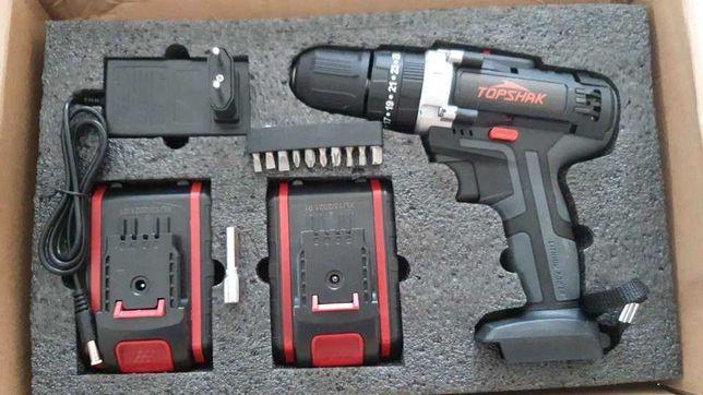 Máquina Furar Aparafusar TopShak / 2 Baterias 21V (NOVO)