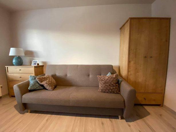Meble - 2 fotele, wersalka, szafa, stolik, szafka rtv, komoda