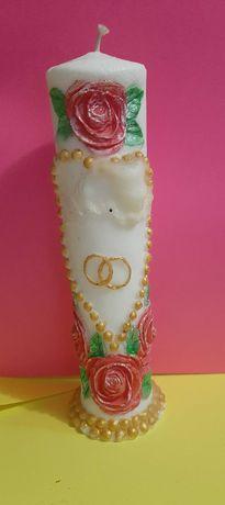 Свечи декор для свадьбы