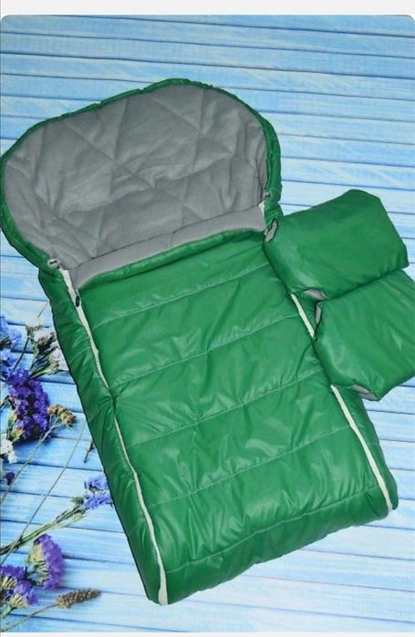 Зимний набор конверт чехол и муфты в санки или коляску Сумы - изображение 1