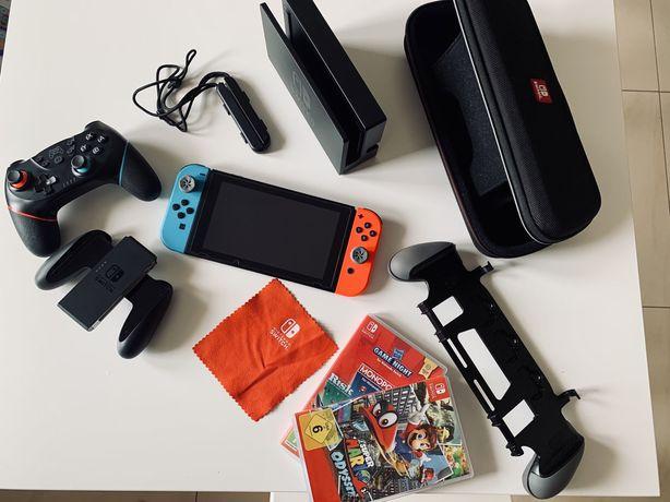 Nintendo switch+ FULL zestaw akcesorii oraz gier.