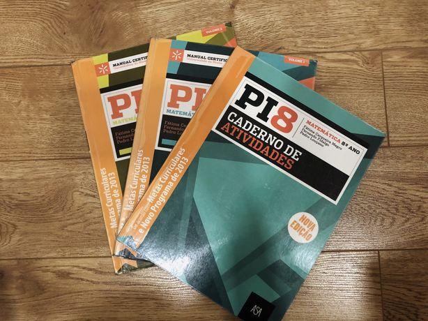 Pi8 Matemática 8.º Ano - Manuais e Caderno de atividades