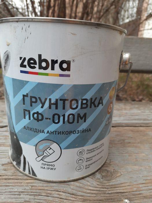 Грунтовка  пф-010 м 2,8 кг зебра Полтава - изображение 1