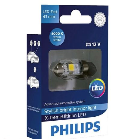 Philips X-tremeVision C5W (43мм) 4000K 12V 129454000KX1