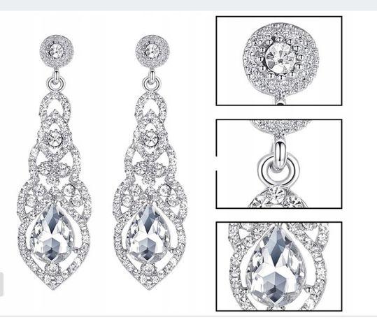 Kolczyki wiszące kryształki