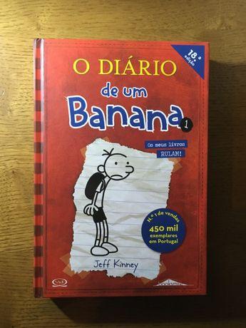"""Livro """"O Diário de um Banana 1"""" Jeff Kinney"""