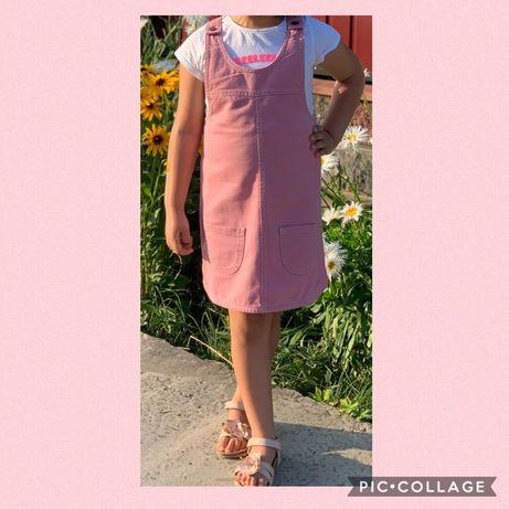 Сарафан рожевий next 6-7 років, стан ідеал
