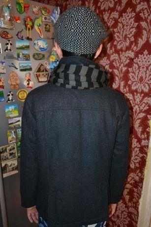 Круте темно сіре ,шерстяне полупальто польша розмір 140 ціна 650 грн